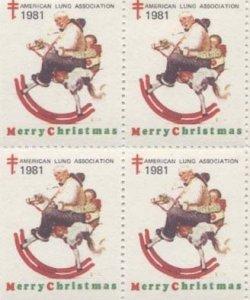 画像1: 【アメリカ】クリスマスシール1981 4枚