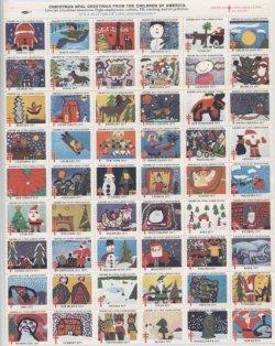画像1: 【アメリカ】クリスマスシール1977 シート