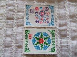 画像1: 【ブルガリア】スノーフレイクとお花 2枚セット
