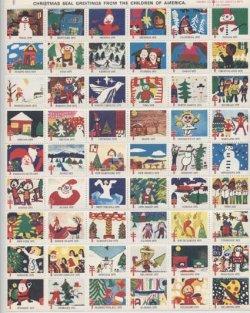 画像1: 【アメリカ】クリスマスシール1975 シート