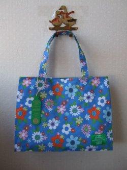 画像1: 【イギリス】TescoX Cath Kidston  エコバッグ Blue Floral